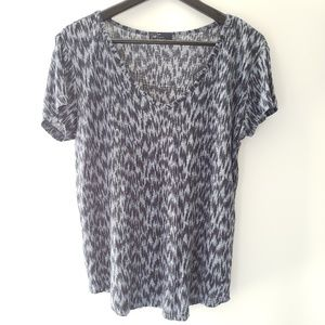 GAP Short Sleeve Blue 100% Linen Top, size XS